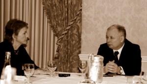 Lucja Sliwa w rozmowie z Jaroslawem Kaczynskim - Chicago 2006.